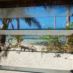 vue sur la plage de la case