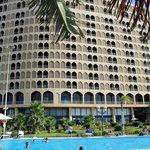 Façade nord (vers la mer) de l'hôtel