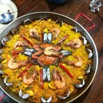 Paella...as deliscious as the presentation!
