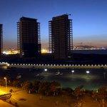 Vue de la chambre sur la baie et la ville d'Alger