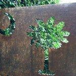 Metal cut out surprise in alleyway