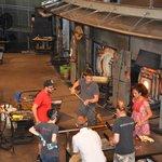 Live glassmaking