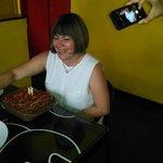 Celebrando mi cumpleaños en Piola Mérida.