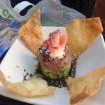 Fresh tuna and avocado starter