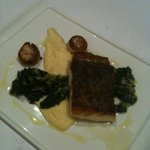 Barramundi with celeriac mash