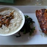 Crispy Skin Snapper and Cauliflower Grits