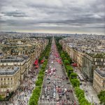 Champs-Elysees as seen from the top of the Arc de Triomphe