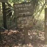 Sign off of the trail head.