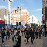 Walking in Oxford Street