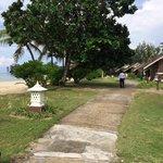Walkway beside beach resort