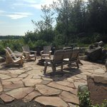 Flagstone Fire Pit is Perfect for Roasting Marshmallows at Night