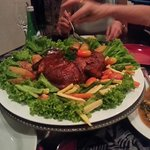 Ayam Kodok with separate salad