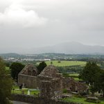 view of the Aghadoe church and round tower from our room