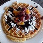 Waffles for breakfast! Yum!