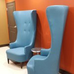 Funky chairs in the hallway on the 1st floor