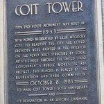 Placa da Coit Tower
