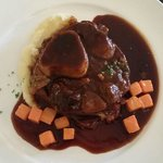 Slow Braised Osso Buco with Carrots and Parsnip Purre