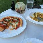 Margherita pizza and chicken pasta