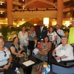 Our group in the lobby with a staff member