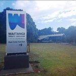 Waitangi treaty Grounds Welcome Sign