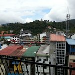 Unobstructed view of the town from the balcony