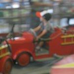 Fire truck ride in motion