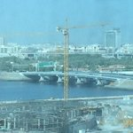View of Dubai Creek from my 9th floor room.