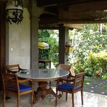 La entrada a nuestra cabaña