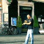 Street musician in trastevere