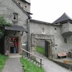 entrance of castle by hiking