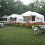 Tent with Landscaping