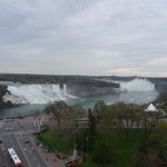 Amazing view of both of the falls from our room
