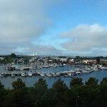 udsigt over havnen fra 5.