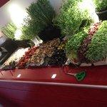 Buffet med frisk grønt mmmm