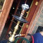 That's a hookah with shisha