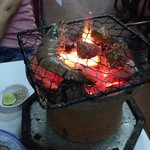 DIY grill at Lac Canh Restaurant
