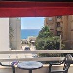 Dalla camera balconcino con vista mare