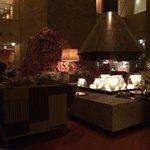 夏の暖炉スペース