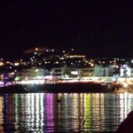 Hersonissos harbour at night