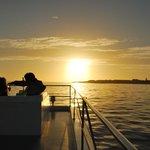 Sunset on the cruise.