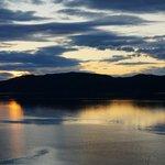 vue sur le fjord depuis l'auberge