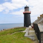 The lighthouse - one of only two black lighthouses in Ireland