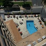 Pool and reatautrant on the 3rd/4th floor looking down from the 16th.