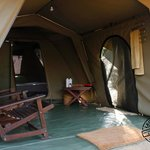 South African canvas tent