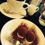 Dark roasted coffee and chocolate truffles