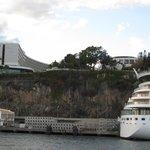 The Pesta Casino next to cruise ship