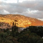 Evening view of Funchal from hotel room