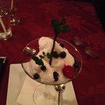 Dessert - key lime sorbet!