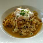 SPINY CRAYFISH AND OTAGO SAFFRON LINGUINE: pinenuts, aged parmigiano reggiano