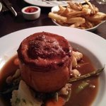 Stunning beef and venison pie